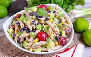 Vegetarian Tex Mex Pasta Salad recipe