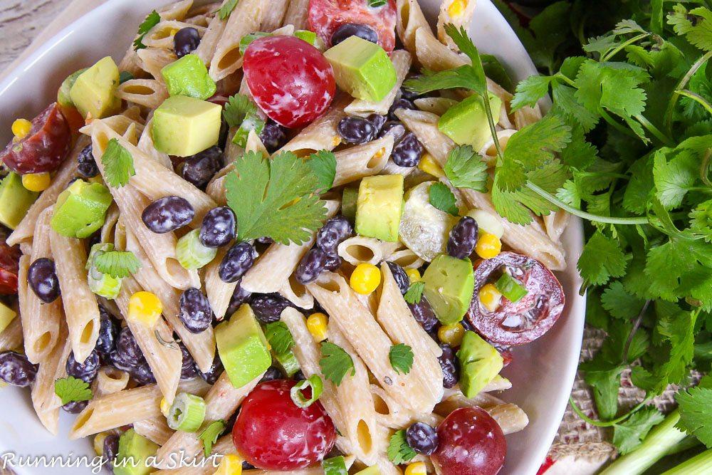 Vegetarian Tex Mex Pasta Salad recipe