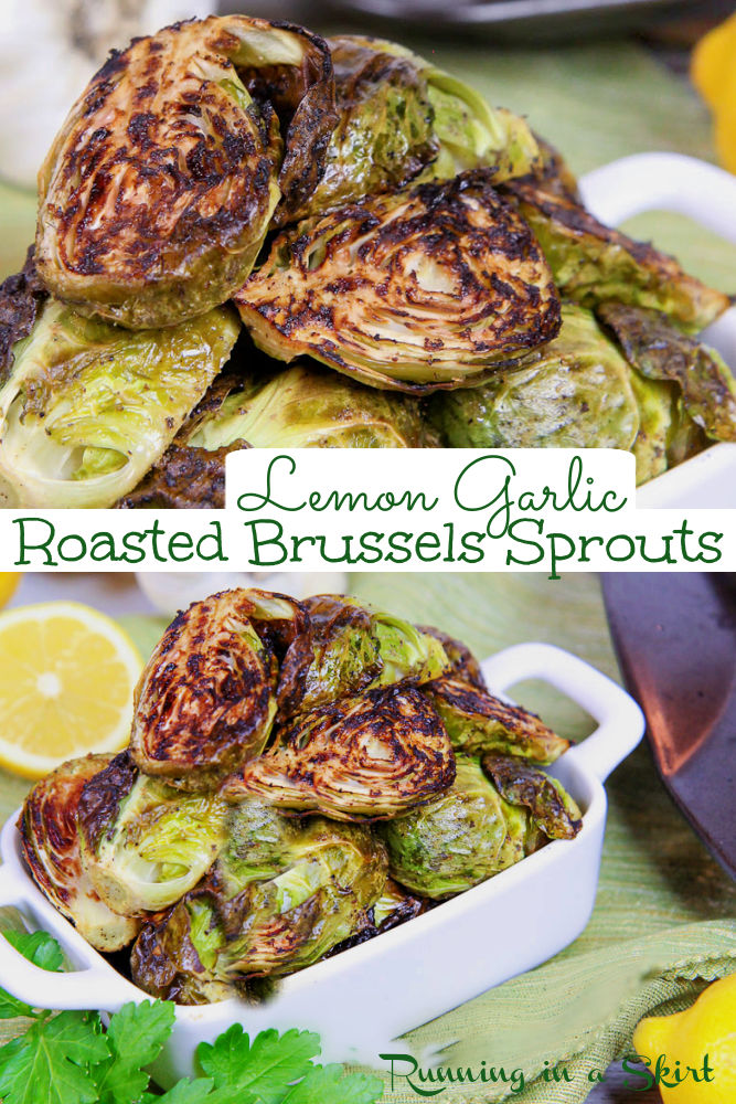 Roasted Brussels Sprouts with Garlic pinterest collage