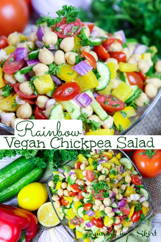 Vegan Chcikpea salad pinterest pin