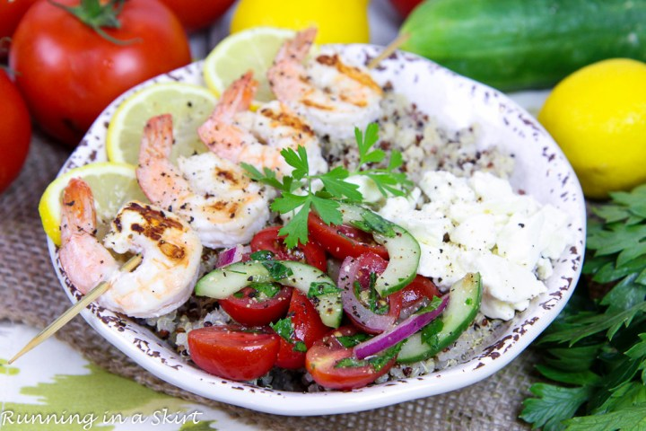 Mediterranean Grilled Shrimp Skewers Bowl recipe
