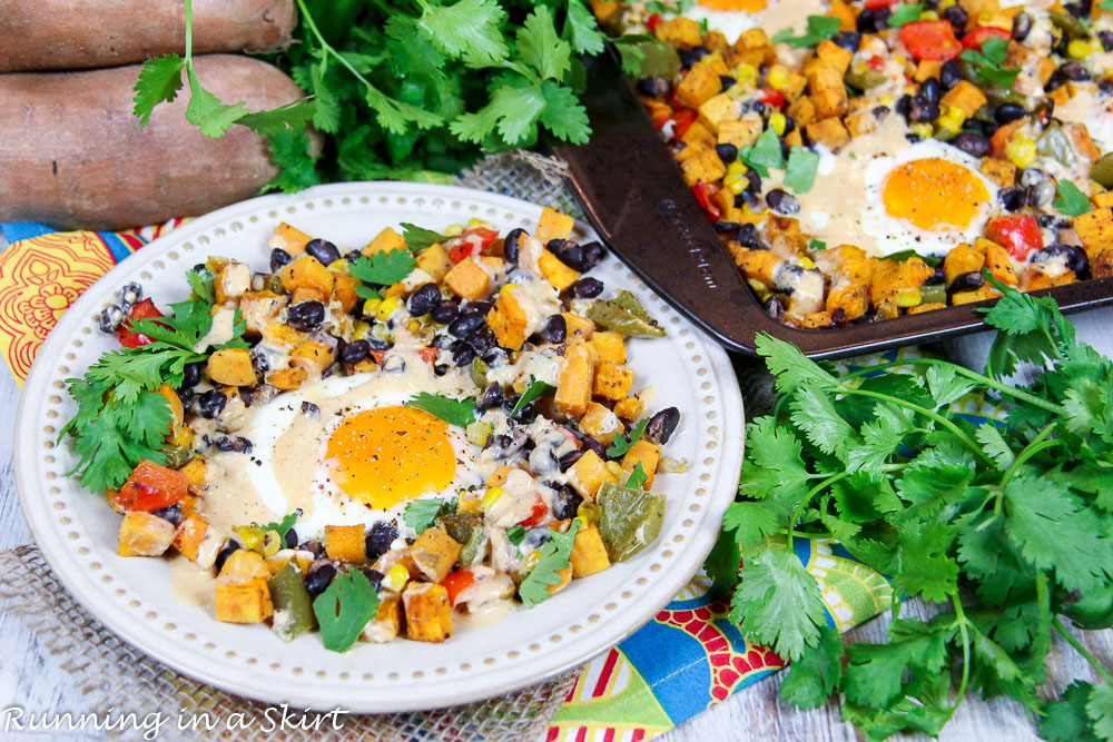 Sheet Pan Sweet Potato Hash with Eggs recipe