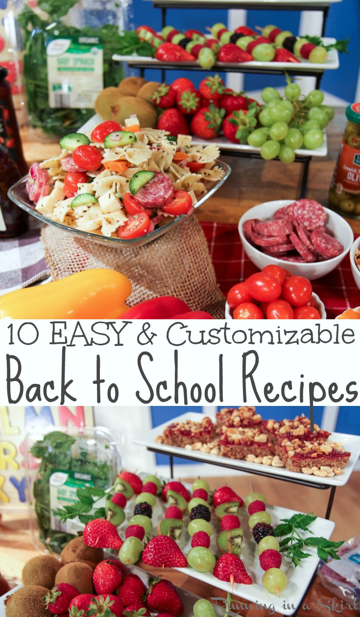 10 ALDI Back to School Lunch and Meal ideas - includes easy, healthy and custamizable back to school lunches for kids, for highschool and for teens.  Includes cute ideas for picky eaters and vegetarian.  / Running in a Skirt @aldiusa #ALDILOVE #backtoschool #lunch #healthy