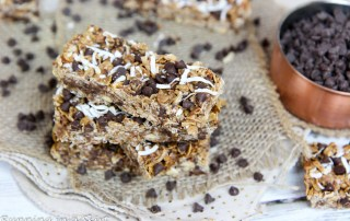 Chocolate Chip Coconut Clean Eating Oatmeal Bars