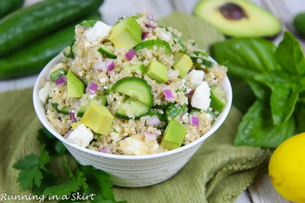 Cucumber Avocado Simple Quinoa Salad