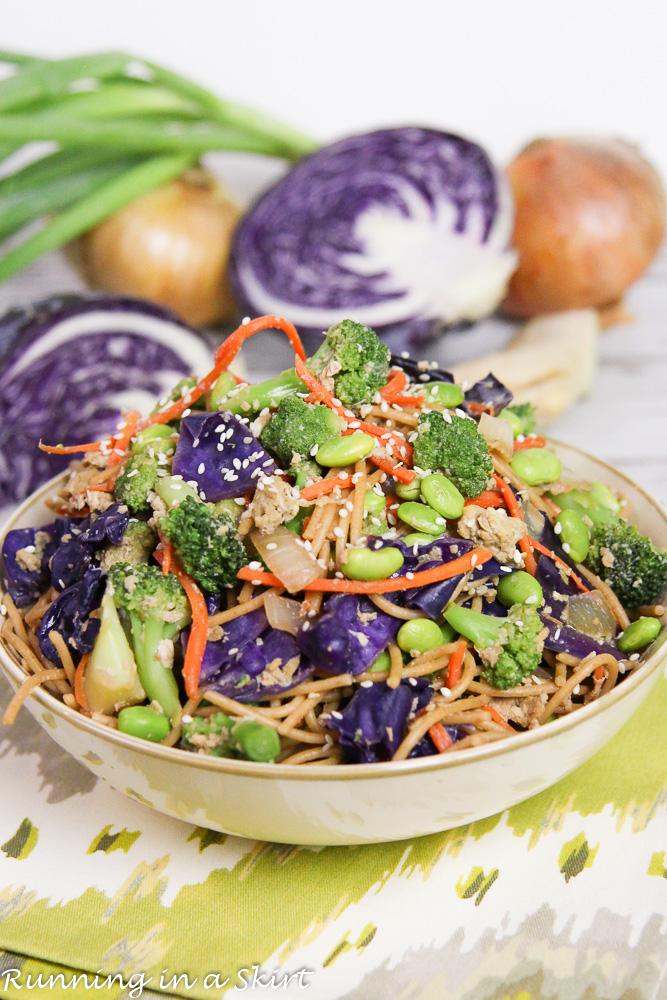 Healthy Vegetarian Lo Mein recipe