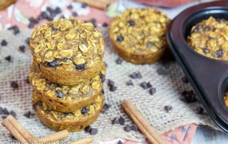 Chocolate Chip Pumpkin Baked Oatmeal Cups recipe