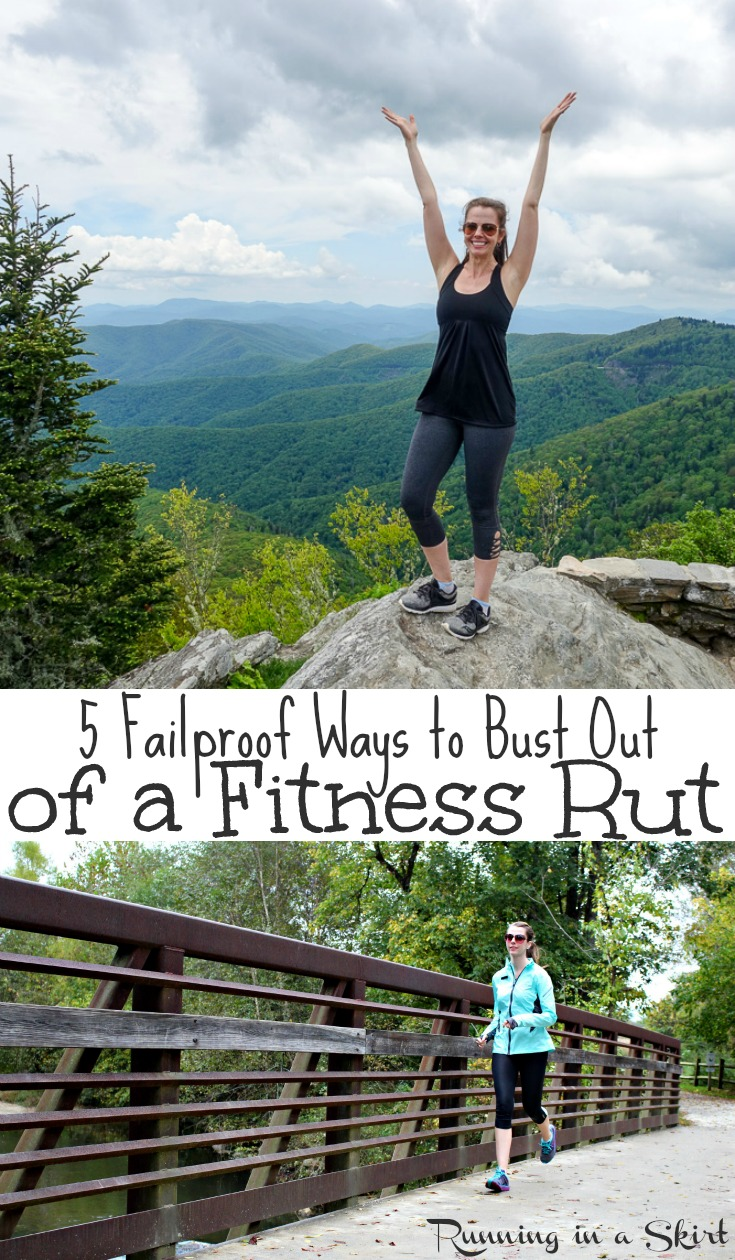 How to Get Out of a Fitness Rut - motivation to workout or exercise for health, weight loss or happiness!  Includes fun products, tips and ideas to get you back on track for a healthier life.  Don't miss this inspiration! / Running in a Skirt #workout #fitness #health #FFitBBoxx AD