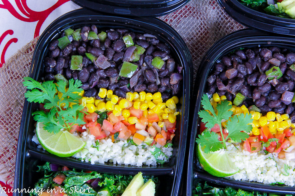 Meal Prep Easy Vegetarian Burrito Bowl recipe