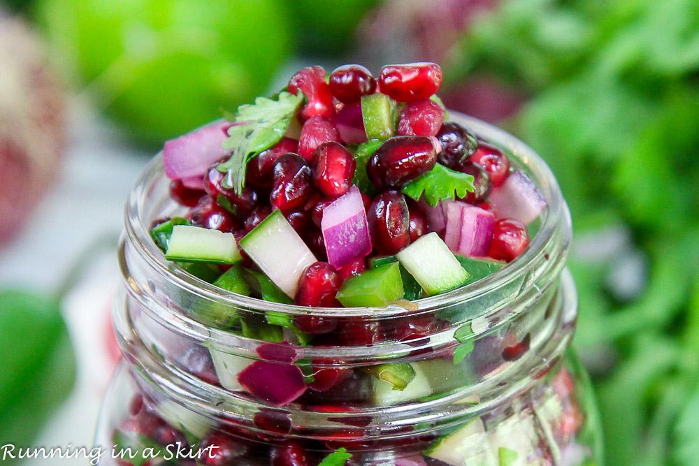 pomegranate cucumber salsa recipe