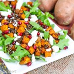 sweet potato lentil feta salad recipe