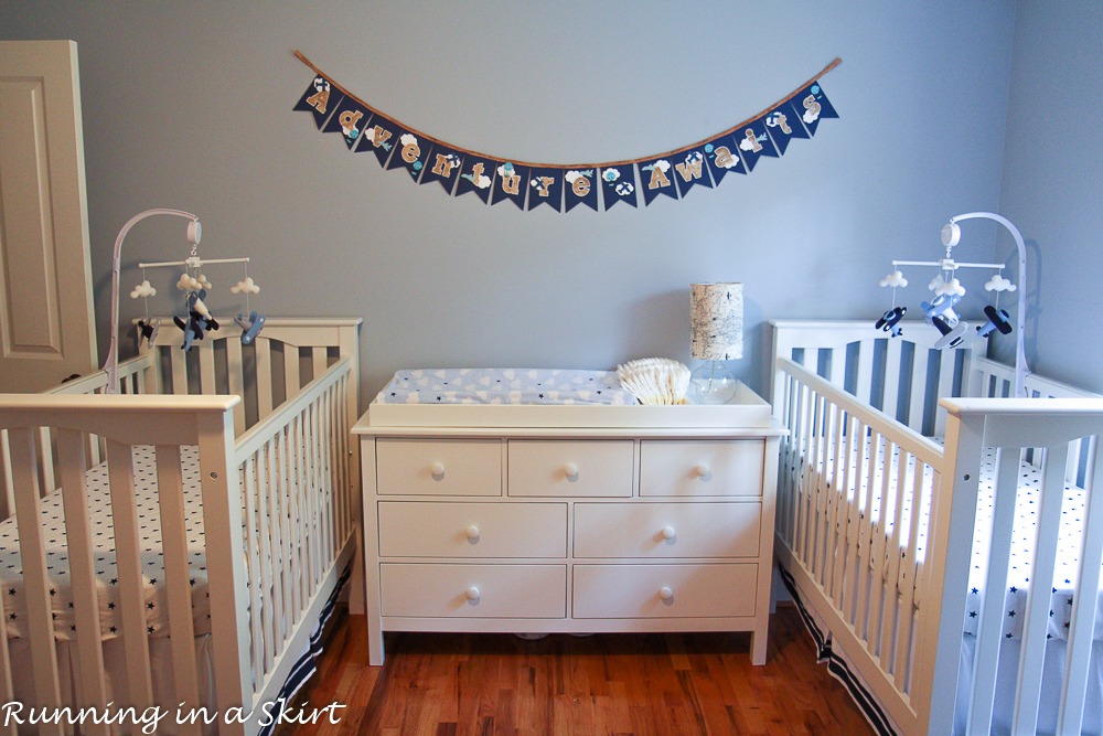 The Twins Aviation Themed Nursery | Running in a Skirt
