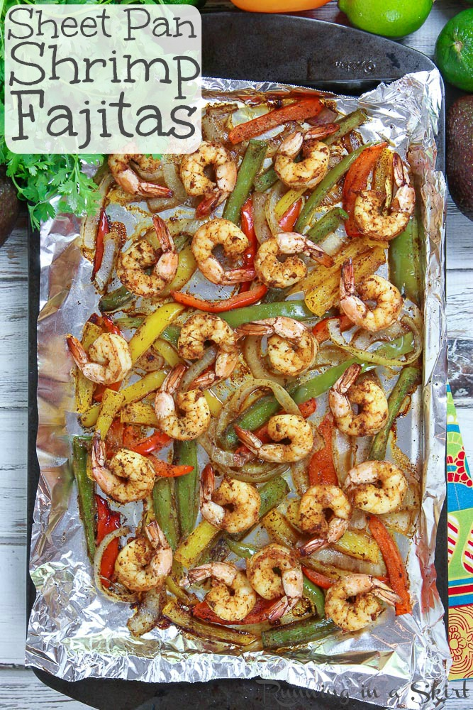 easy sheet pan shrimp fajitas recipe