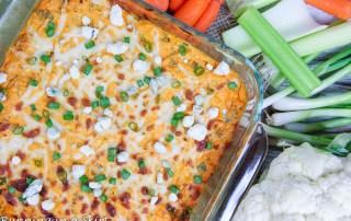 Healthy Buffalo Cauliflower Dip recipe