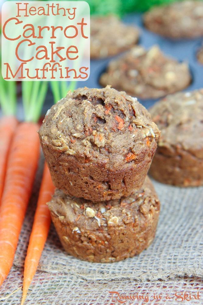 Applesauce Healthy Carrot Cake Muffins Recipe Running In A Skirt