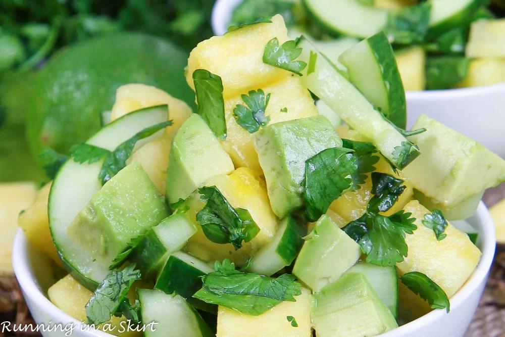 Avocado Pineapple Cucumber Salad recipe