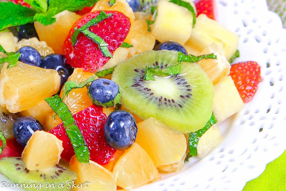 Honey Lime Rainbow Fruit Salad recipe