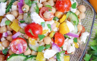 mediterranean chickpea salad with feta
