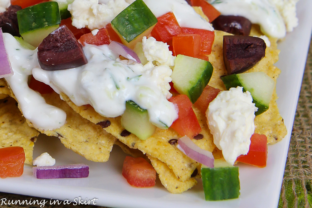 Vegetarian Greek Nachos with Tzatziki Sauce recipe