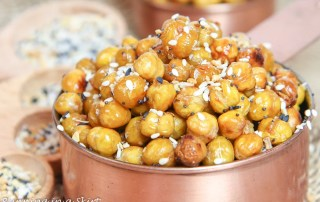 Roasted Everything Bagel Chickpeas recipe