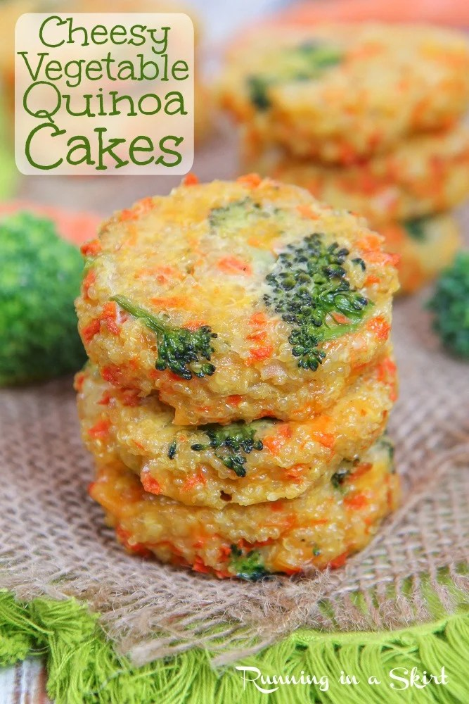 Cheesy Broccoli Quinoa Patties recipe pinterest pin.