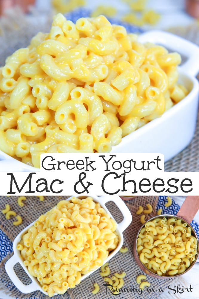 Greek Yogurt Mac and Cheese recipe - Healthy & Creamy. This easy, homemade cheese sauce makes the perfect healthy Mac and Cheese using plain greek yogurt. Great clean eating recipe for kids or adults. / Running in a Skirt via @juliewunder