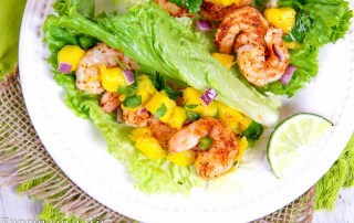 Lettuce Wrap Shrimp Tacos recipe