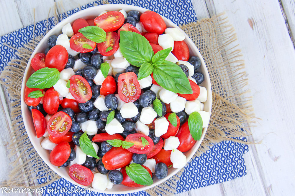 Blueberry Caprese Salad without balsamic glaze.