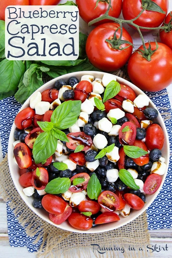 Blueberry Caprese Salad pin
