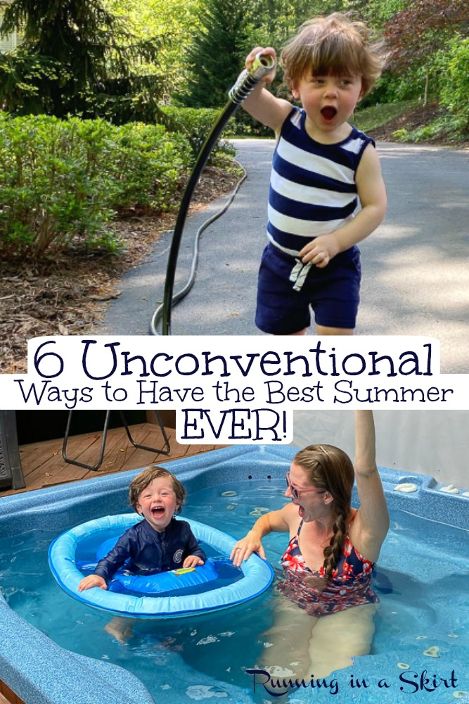 How to Have the Best Summer Ever - 6 Unconventional Ideas to have the best summer. Including ways to keep toddlers, kids and teens happy at home. / Running in a Skirt #summer #twins #healthyliving #happiness via @juliewunder