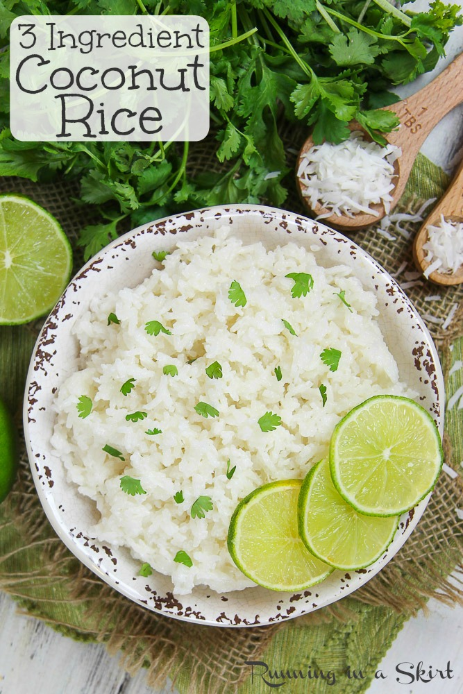 How to Make Coconut Rice pinterest pin