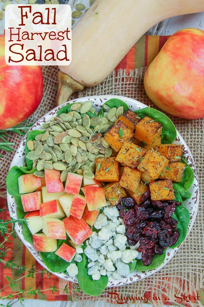 Fall Harvest Salad pinterest pin.