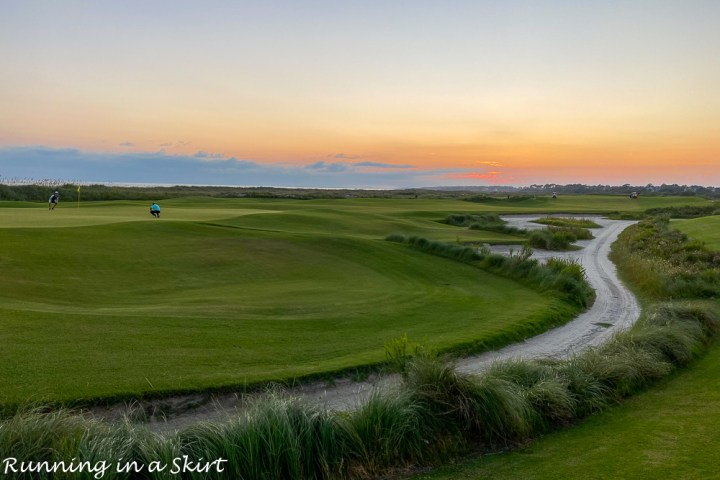 Sunset over The Ocean Course.