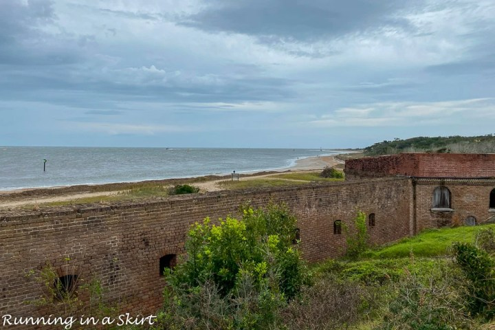 Sea view at Fort Clinch.