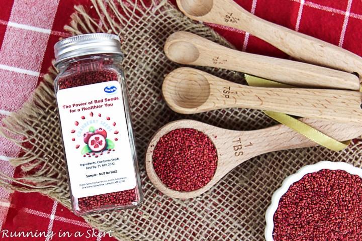 Closeup of Cranberry Seeds.