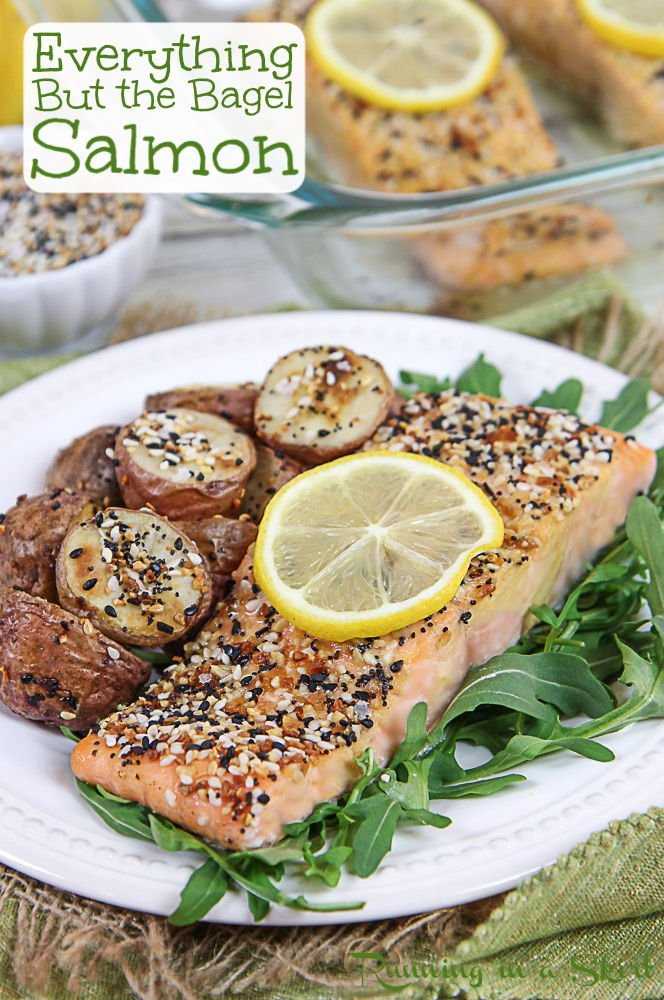 Everything But the Bagel Salmon pinterest pin.