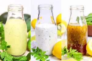 Trio of Healthy Homemade Salad Dressings