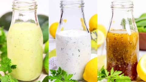 Trio of Healthy Homemade Salad Dressings
