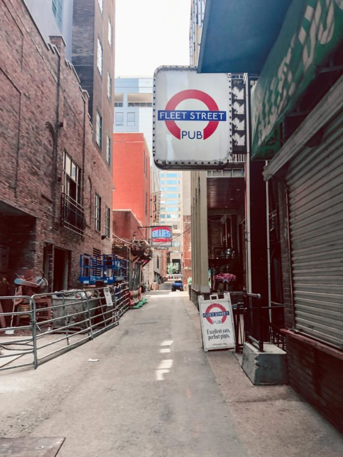 Printer's Alley, downtown Nashville