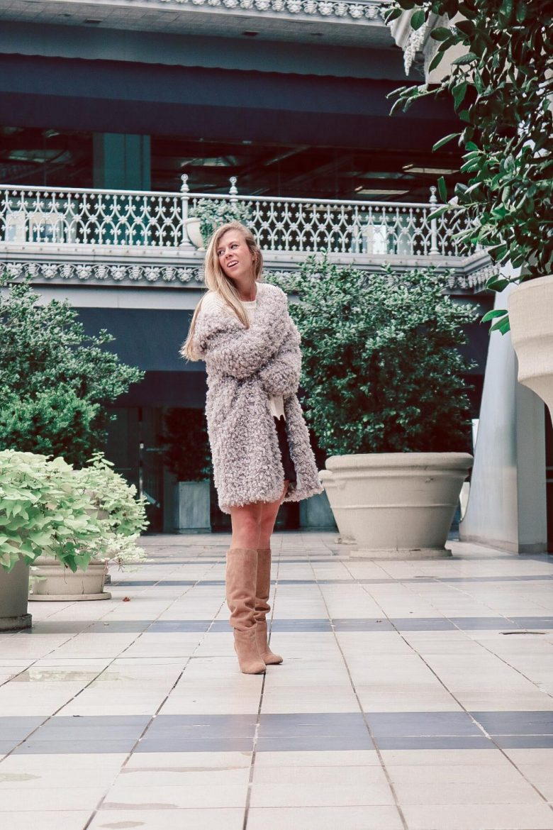 How to Choose the Best Winter Coats , teddy coat and boots featured by top US fashion and style blogger, Running in Heels