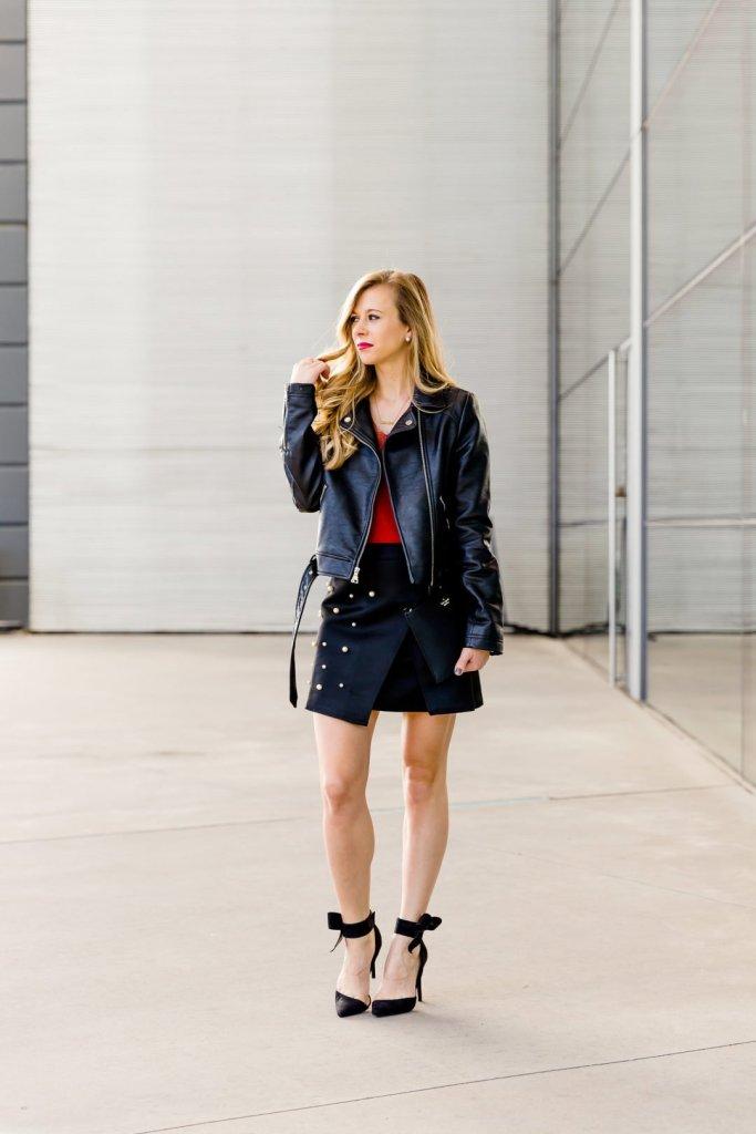 Pearl studded skirt | Running in Heels | Dallas Fashion Blogger