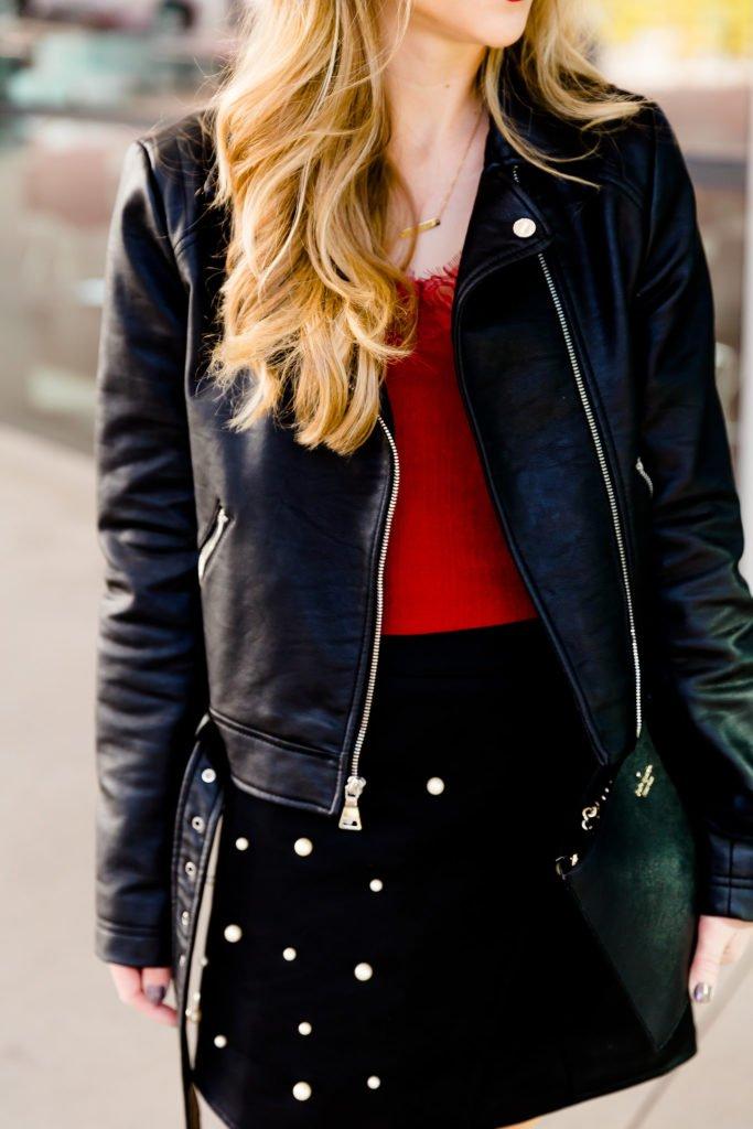 Pearl studded skirt| Running in Heels | Dallas Fashion Blogger