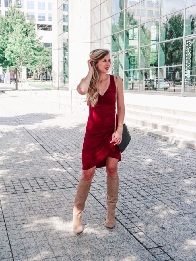 Nordstrom Anniversary Sale Early Access 2018   Running in Heels   Sweater dress   fall outfit   red dress   knee high boots