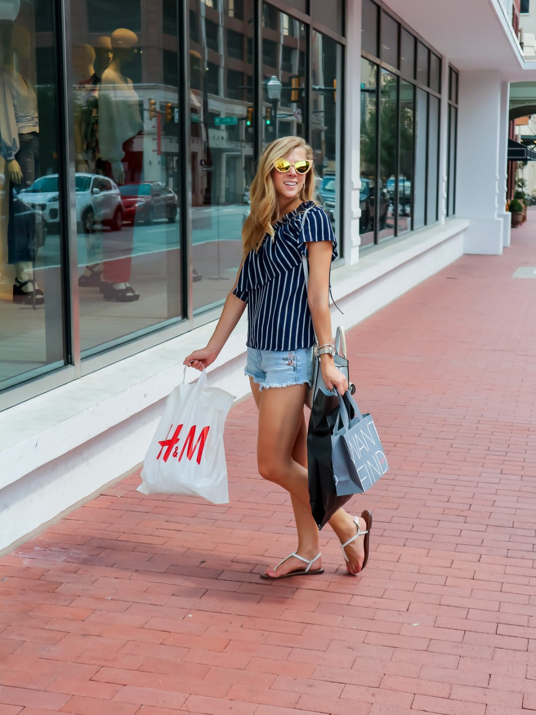 Shopping in Sundance Square | Running in Heels
