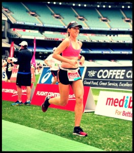 Final 200m of Melbourne marathon 2013-2