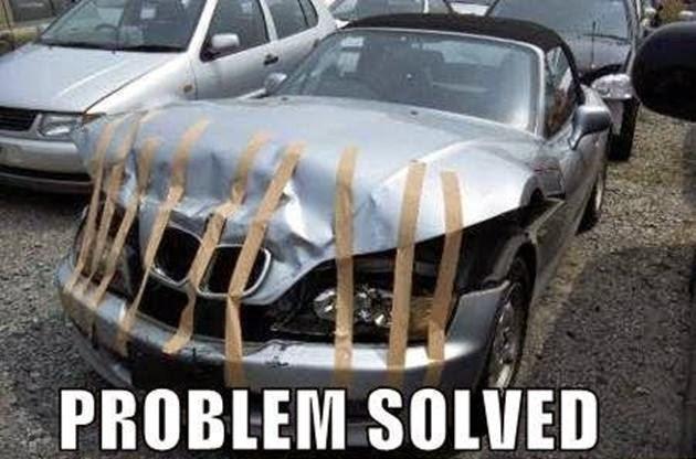 Bmw Accident Meme Running On Happy