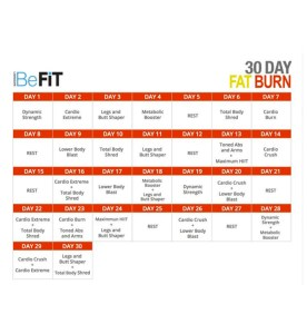 BeFit Calendar | Running on Happy