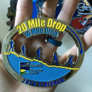 20 Mile Drop | Favorite Race Medal | Friday Five | Running on Happy