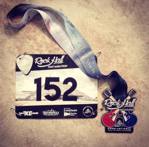 Rock Hall Half Marathon | Favorite Race Medal | Friday Five | Running on Happy
