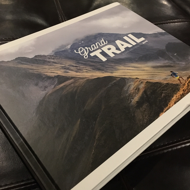Grand Trail is a handsomely organized coffee table book full of ultrarunning stories, interviews, and stunning photography. -Running on Happy